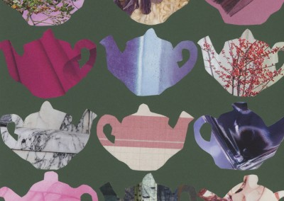 teapots on green KC1029