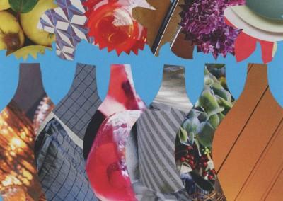 vases on blue KC1021